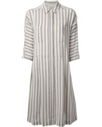 By Malene Birger Striped Dress - Lyst