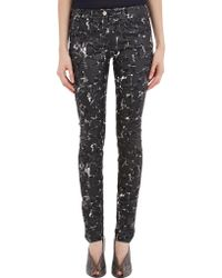 Balenciaga Coated Terrazzo-Print Jeans - Lyst
