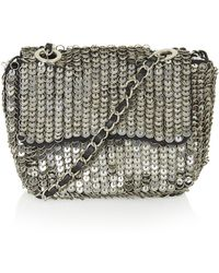 Topshop Embellished Metal Crossbody Bag - Lyst