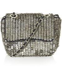 Topshop Embellished Metal Crossbody Bag - Lyst