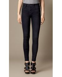 Burberry High-rise Skinny Fit Jeans - Lyst