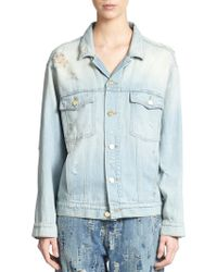 Madegold - Distressed Denim Jacket - Lyst
