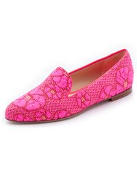 Paul Andrew Suffix Flats - Neon Rose - Lyst