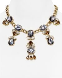T Tahari Cluster Stone Necklace, 16""