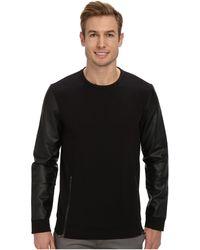 Calvin Klein Color Blocked Knit Terry Sweatshirt - Lyst