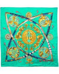 Hermes Pre-Owned Daimyo Princes Du Soleil Levant (Jacquard) - Lyst