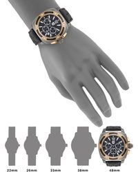 Andrew Marc - Two-Tone Stainless Steel Screw Bezel & Leather Chronograph Watch - Lyst