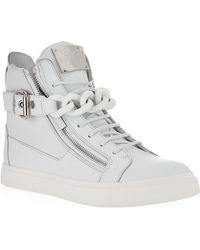 Giuseppe Zanotti Chain Mono High Top Sneaker - Lyst