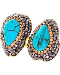 Soru Jewellery - Double Turquoise Ring - Lyst