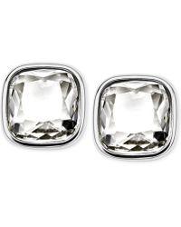 Michael Kors Silver-Tone Crystal Stud Earrings silver - Lyst