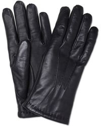 Turnbull & Asser - Cashmere Lined Black Leather Gloves - Lyst