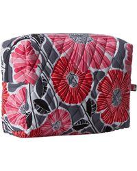 Vera Bradley Red Large Cosmetic - Lyst