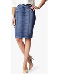 7 For All Mankind Seamed Pencil Skirt With Pocket Detail - Lyst