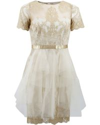 Notte by Marchesa | Metallic Lace Dress | Lyst