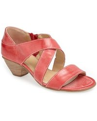 Fidji - Leather Sandal - Lyst