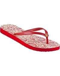 Tory Burch Thin Flip Flop Acai Red - Lyst