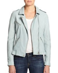 Rebecca Taylor Washed Leather Jacket - Lyst
