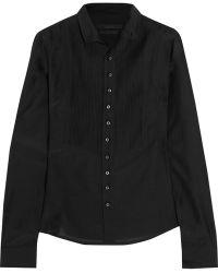 L'Wren Scott Pleated Silk and Cottonblend Shirt - Lyst