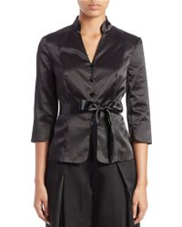 Adrianna Papell - Satin Belted Jacket - Lyst