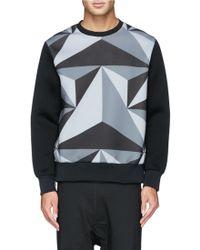 Neil Barrett Prism Print Front Scuba Sweatshirt - Lyst