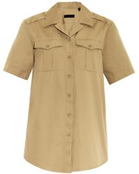 Burberry Prorsum - Notch-collar Safari Shirt - Lyst
