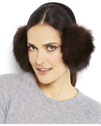 Surell Real Fur Velvet Earmuffs - Lyst