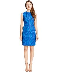 Cynthia Steffe Sleeveless Floral Lace Dress - Lyst