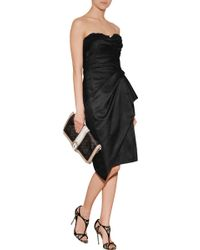 Marchesa Strapless Hand Draped Cocktail Dress - Lyst