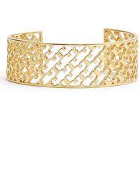Tory Burch 'T' Open Cuff - Shiny Gold gold - Lyst