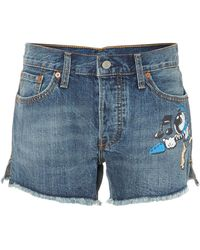 Levi's Rick Griffin Denim Shorts in Indigo Current - Lyst