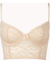 Forever 21 Lace Corset Bra - Lyst