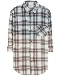 Current/Elliott The Prep School Plaid Cottonblend Shirt - Lyst