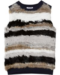 Opening Ceremony Stripe Rabbit Vest - Lyst