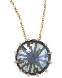 KALAN by Suzanne Kalan - 12mm Round Blue Topaz Pendant Necklace - Lyst