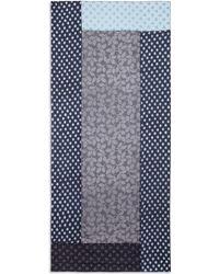 Diane von Furstenberg | Denim Multi-woven Silk Scarf | Lyst