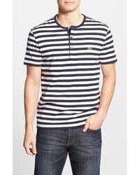 Lacoste Short Sleeve Stripe Henley - Lyst