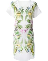 Iris Von Arnim Flower And Birds Print Dress - Lyst