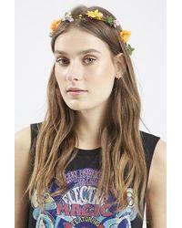 Topshop Dainty Floral Garland orange - Lyst