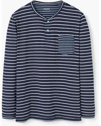 Mango | Striped Henley T-shirt | Lyst