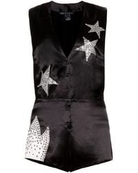 Marc By Marc Jacobs - Cosmo Night Embellishedsatin Playsuit - Lyst