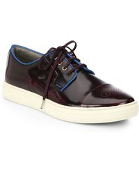 Paul Smith Minister Patent Leather Lace-Up Sneakers - Lyst