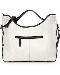 L.A.M.B. Glad Leather Shoulder Bag white - Lyst