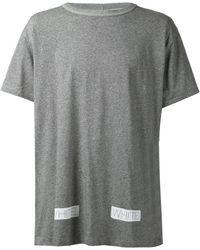 Off-White Logo Print T-Shirt - Lyst