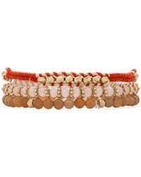 BCBGMAXAZRIA Gold Layered Bracelet - Lyst