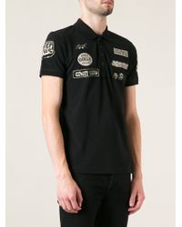 Diesel Printed Polo Shirt - Lyst