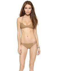 Mikoh Swimwear Lanai Bikini Bottoms - Bone - Lyst