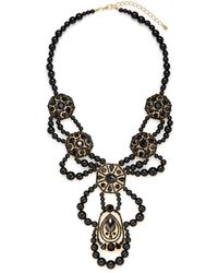 Saks Fifth Avenue Beaded Medallion Bib Necklace - Lyst