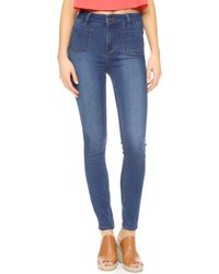 Free People - Beverly Skinny Jeans - Lyst