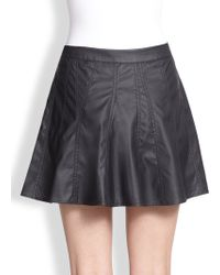 Townsen - Rookie Perforated Fauxleather Skirt - Lyst