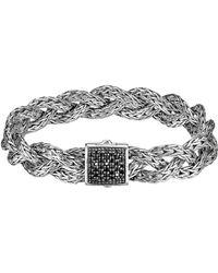John Hardy Black Sapphire Braided Chain Bracelet - Lyst